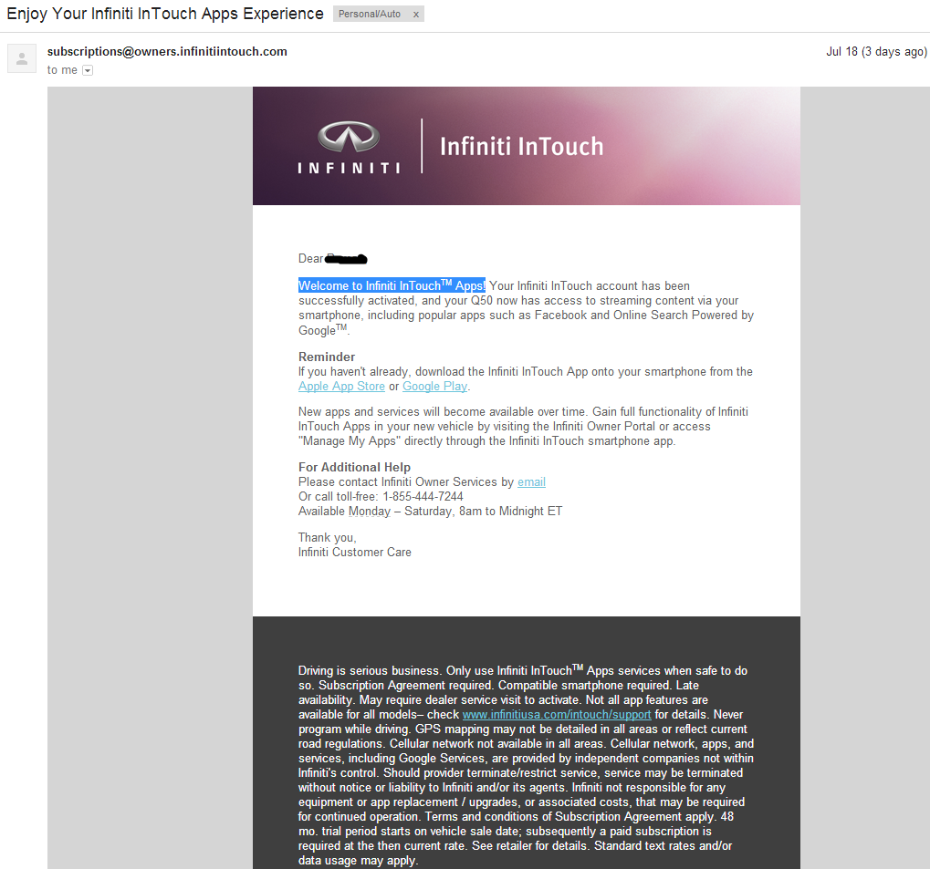 infiniti owner portal inTouch App android download!!! - Page 10 - Infiniti Q50 Forum