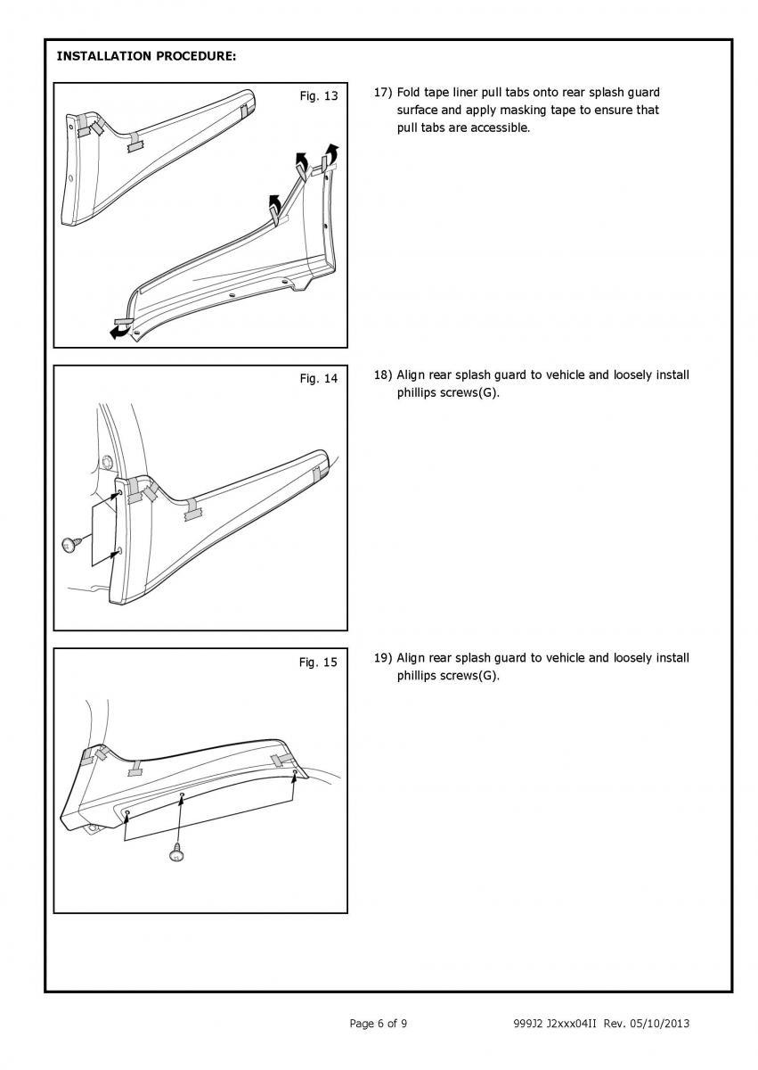 Oem Installation Instructionssplash Guard Rear Kit Infiniti Q50 2015 Wiring Diagram Click Image For Larger Version Name Splash Guards Page 6 Views 837 Size 760